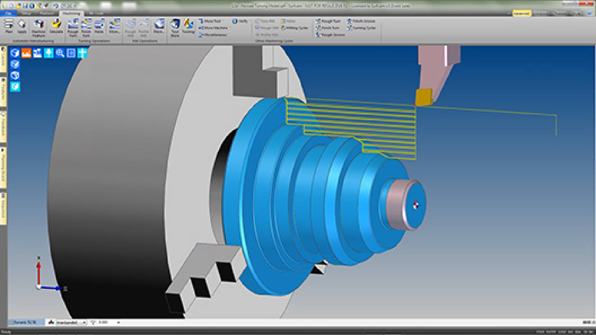 Surfcam Turning provides functionality for a wide range of machine tools,  including 2-Axis lathes, multi-turret configurations, sub-spindle turning  centers ...